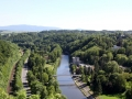 Pohled na lázně Teplice nad Bečvou.